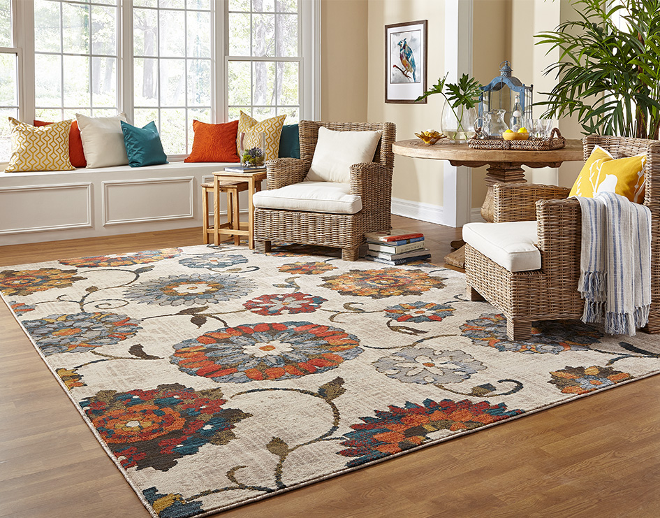Casual area rugs